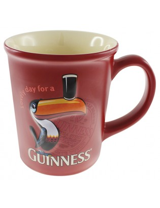Large Toucan Emb Mug Red
